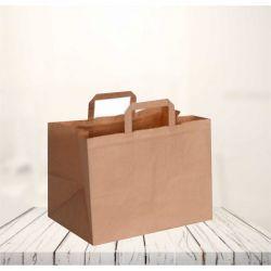 Sac papier personnalisé Box 26x17x25 CM | SAC PAPIER BOX | IMPRESSION FLEXO EN UNE COULEUR SUR ZONES PRÉDÉFINIES SUR 2 FACES