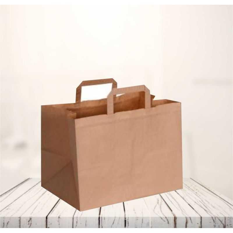 Sac papier personnalisé Box 26x17x25 CM   SAC PAPIER BOX   IMPRESSION FLEXO EN DEUX COULEURS SUR ZONES PRÉDÉFINIES SUR 2 FACES