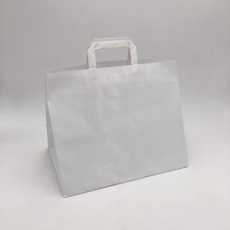 Sac papier personnalisé Box 26x17x25 CM   SAC PAPIER BOX   IMPRESSION FLEXO EN DEUX COULEURS SUR ZONES PRÉDÉFINIES