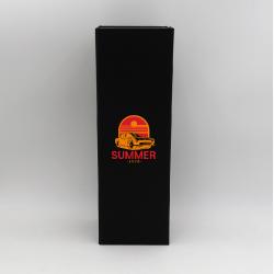 Boîte aimantée personnalisée Bottlebox 12x40,5x12 CM | BOTTLE BOX | BOÎTE POUR 1 BOUTEILLE MAGNUM | IMPRESSION EN SÉRIGRAPHIE...