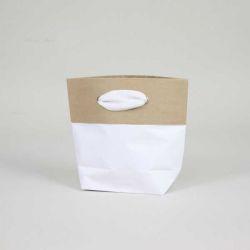 Sac papier personnalisé Ciment 15x8x20 CM | SAC PAPIER CIMENT PREMIUM | IMPRESSION EN SÉRIGRAPHIE SUR DEUX FACES EN UNE COULEUR