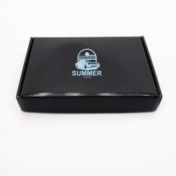 Boîte d'expédition personnalisée Postpack 32x23x4,8 CM | POSTPACK PLASTIFIÉ | IMPRESSION EN SÉRIGRAPHIE SUR UNE FACE EN UNE C...